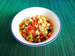 チキンと枝豆のトマトリゾット
