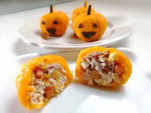 りんごとチーズ入りハロウィンかぼちゃ
