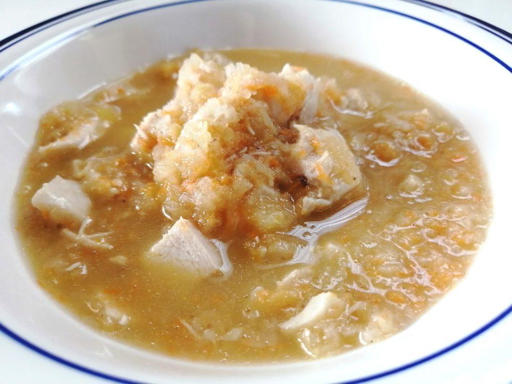 りんごとれんこんのすり流しスープ