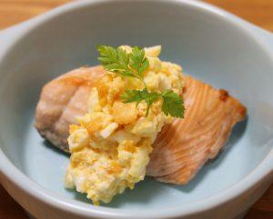 秋鮭のグリル 豆腐タルタルソース
