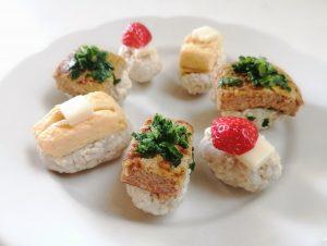 みんなで食べよう!春のお祝いお寿司