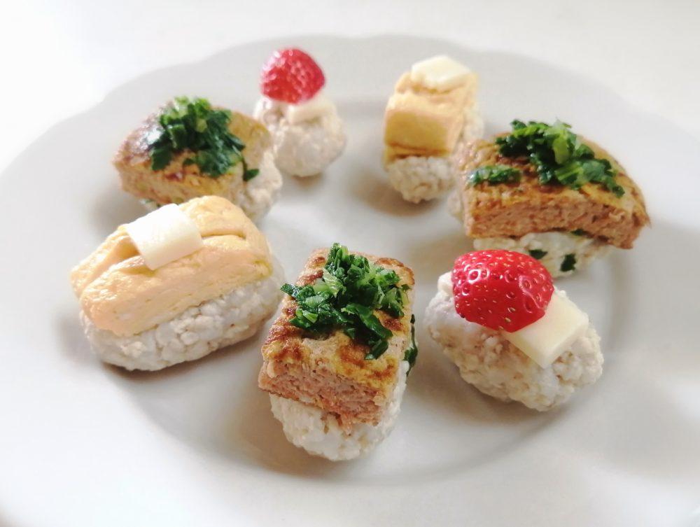 みんなで食べよう春のお祝い寿司